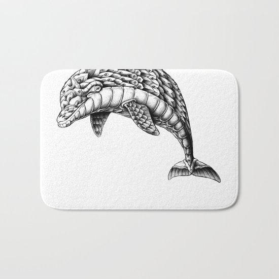 Ornate Dolphin Bath Mat