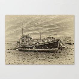 Old Fishing Boats Canvas Print