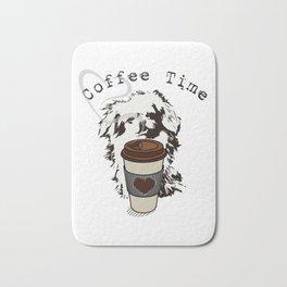 Pekingese Coffee Time VS6S Bath Mat