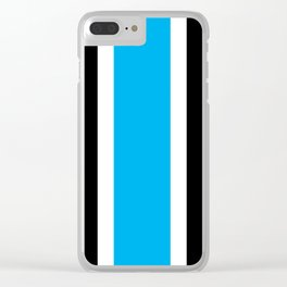 TEAM COLORS 10 ...LIGHT BLUE, BLACK Clear iPhone Case