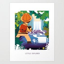 LITTLE EXPLORER Art Print