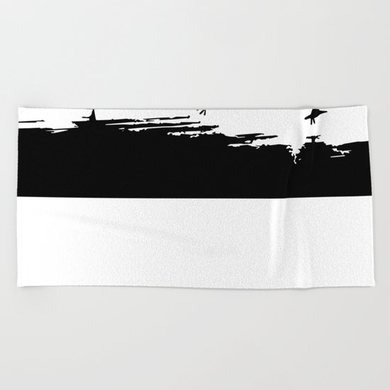 Let's fly away Beach Towel