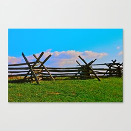 Fence @ Antietam Canvas Print