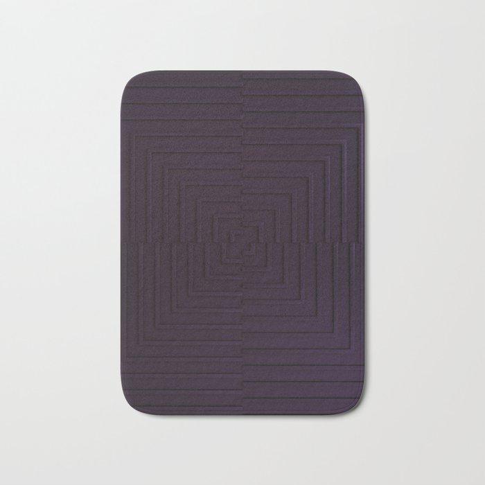 Purple Maze Bath Mat