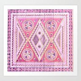 Pink Najd Door Art Print