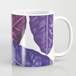 Tropical Leaves - Ultra Violet 1 Coffee Mug