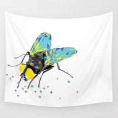 Geosafari | Fly (White) Wall Tapestry