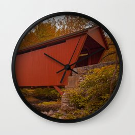 Walls of Jericho Bridge Wall Clock