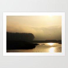 Golden Light - JUSTART © Art Print