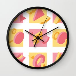 Isometric design element in memphis style Wall Clock