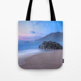 Ocean Tides - Mist Rolls in At Sunset in Big Sur Tote Bag
