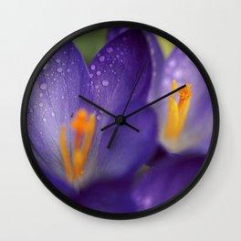 Crocuses and Sunrise. Wall Clock