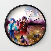 dmmd Wall Clocks featuring dmmd beach by Mottinthepot