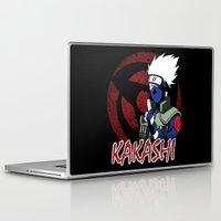 kakashi Laptop & iPad Skins featuring KAKASHI by BradixArt