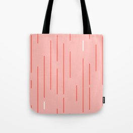 Living Coral Stripes Tote Bag