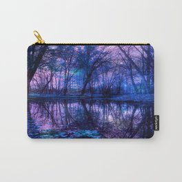 Enchanted Forest Lake Purple Blue Carry-All Pouch