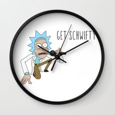 Rick and morty Get schwifty Wall Clock