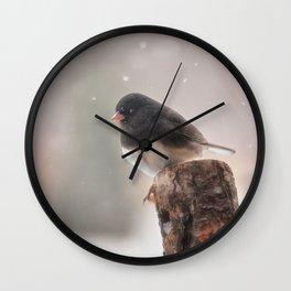 Winter Birds - Junco Wall Clock