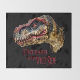 T-Rex Dinosaur - Unleash your wild side Throw Blanket