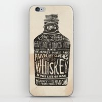 whiskey iPhone & iPod Skins featuring Whiskey by Jon Contino