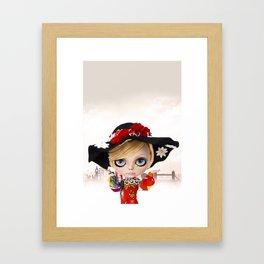 Erregiro Blythe Custom Doll Twiggy Framed Art Print