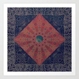 Fractured Hemispheres Art Print