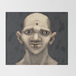 The Demonic Realm Throw Blanket