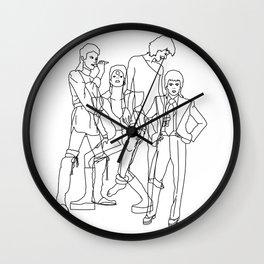 Davie Bowie Line Print Wall Clock