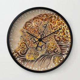 Swirly Leopard Wall Clock