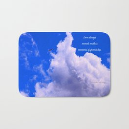 """Clouds #73"" Photo with poem: Love Is #4 Bath Mat"
