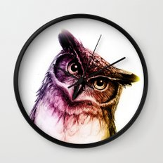 The wise Mr. Owl Wall Clock