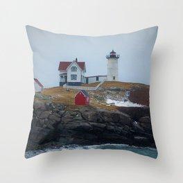 Cape Neddick Light Throw Pillow
