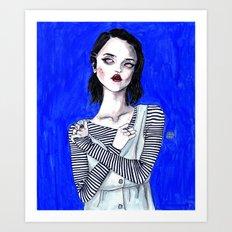 Sky ferreira / Blue period  Art Print