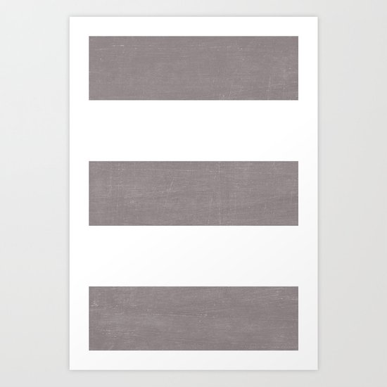 five - dark gray Art Print