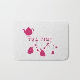 Pink Tea Time 2 Bath Mat