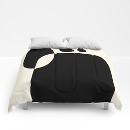 shapes black white minimal abstract art Comforters