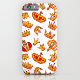Crowns pattern iPhone Case