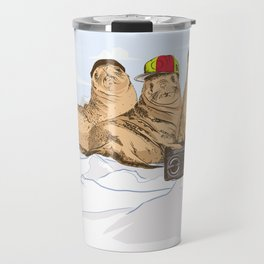 Funky Seals Travel Mug