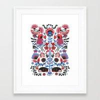 folk Framed Art Prints featuring The Pug of Folk  by Huebucket