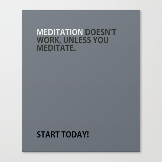 Mediation doesn't work Canvas Print