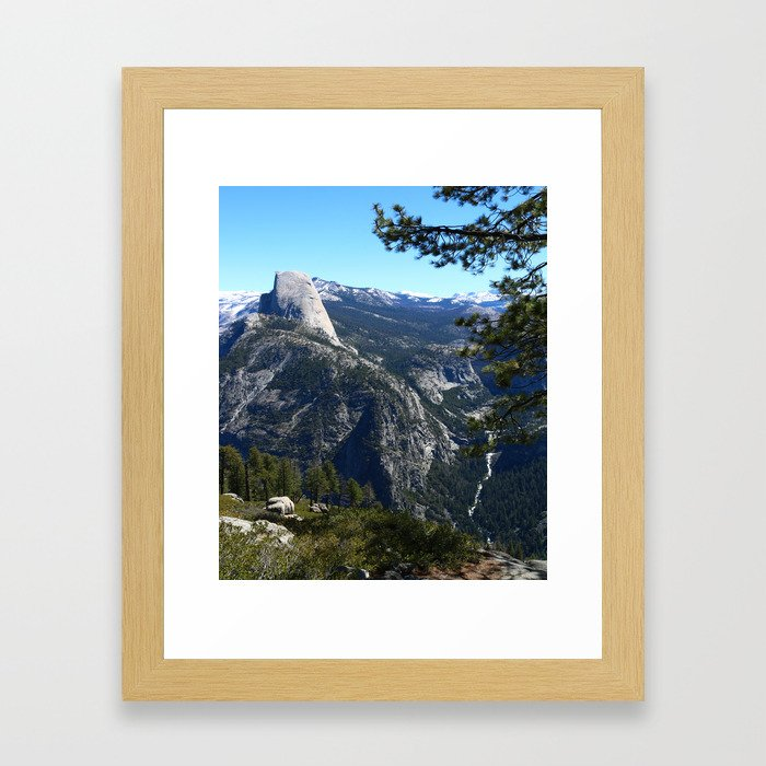 Imposing Glacier Point View Framed Art Print