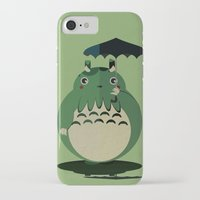 cthulu iPhone & iPod Cases featuring my neighbor cthulu by pixel.pwn | AK