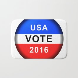Vote Button 2016 Bath Mat