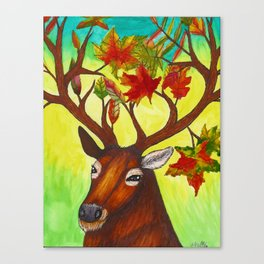 Elk of Autumn Canvas Print