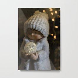 Christmas girl, child Metal Print