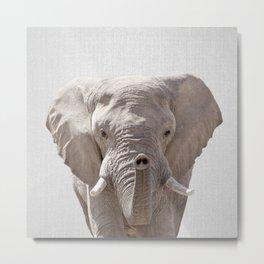 Elephant - Colorful Metal Print