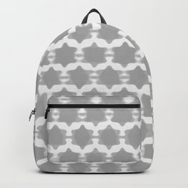 Hexagram Pattern: Grey Backpack