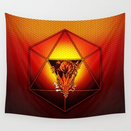 d20 Lucky Dragon Wall Tapestry