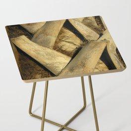 Palm Tree Bark Side Table