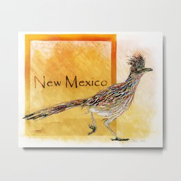Roadrunner Of New Mexico-Barbara Chichester Metal Print
